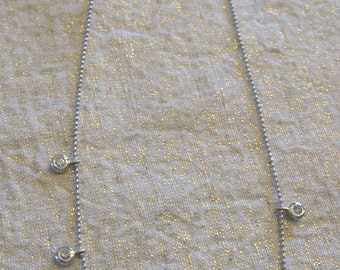 White Gold and Diamond Necklace Made in Italy