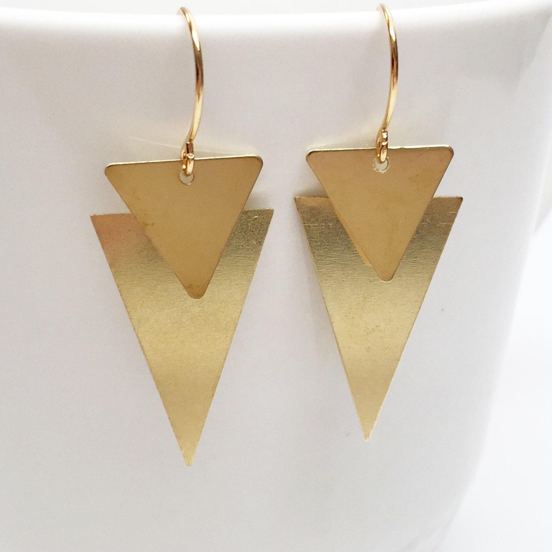 triangle earrings gold triangle earrings dangle earrings. Black Bedroom Furniture Sets. Home Design Ideas