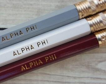 ALPHA PHI  3 Pack Pencil Set