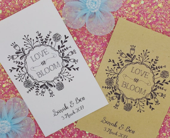 Personalised Seed Envelopes/ Packets Wedding Favour