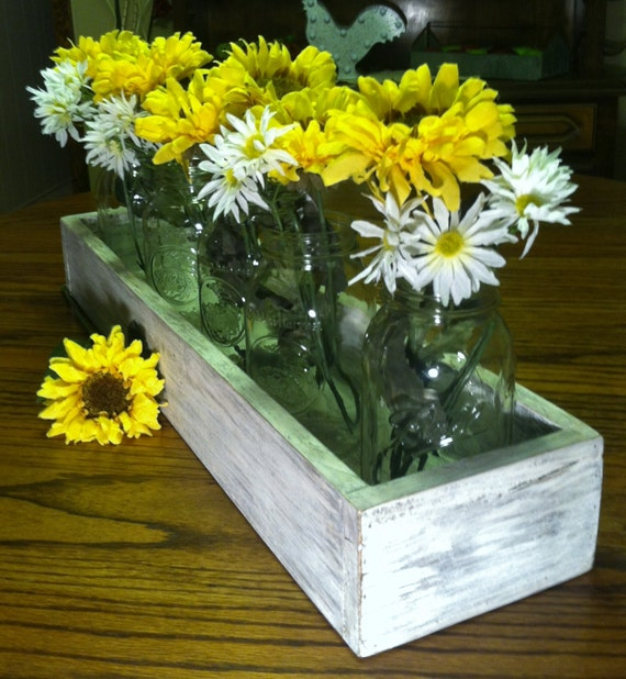 Rustic pallet wood box centerpiece holiday or by