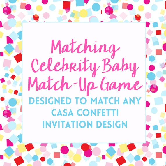 Celebrity baby name matching quiz