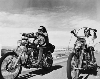 Easy Rider poster print photo choppers motorcycles Dennis Hopper Peter Fonda vintage movie poster photograph-PRINT