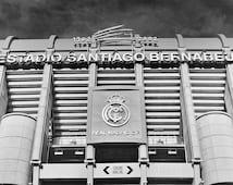 Real Madrid Photo Print, Real Madrid Poster, Madrid Wall Art, Santiago Bernabeu Poster, Spain Football, Cristiano Ronaldo.