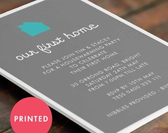 Printed Housewarming Invitation A6 - 105x148mm (Customised)
