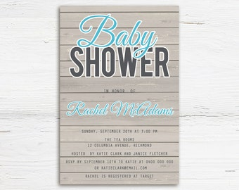 Boy Baby Shower Invitation - Printable Baby Shower Invitation - Printable Invitation - Baby Shower Invitations  Boy Baby Shower