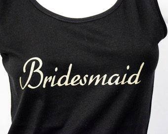 Bridesmaid custom tank top
