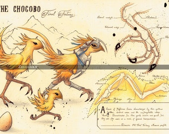 Original drawing - Chocobo - Final Fantasy