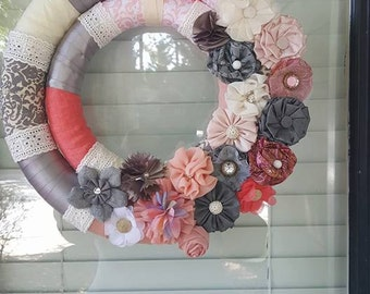 Double Wrapped Ribbon Wreath