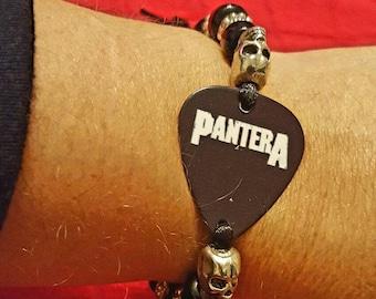Pantera guitar pick bracelet