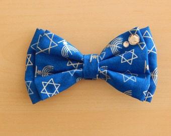 Hanukkah Hair Bow