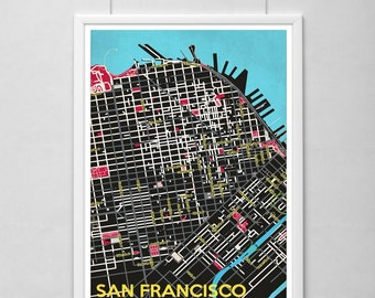San Francisco Poster Set Minimalistic Design