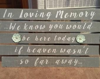 Rustic In Memory of Wedding Sign