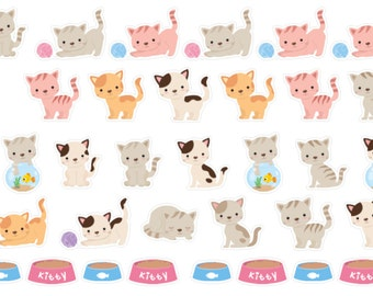 Kitty Cuties Stickers  (planner stickers)