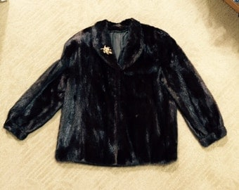 Women's Natural Mink Jacket---Rich Mohogany Color