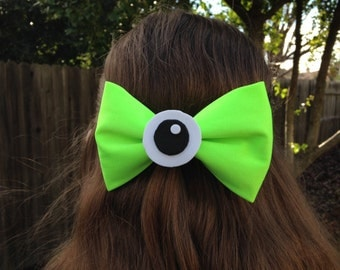 Monsters Inc. Mike Wazowski Disney Inspired Hair Bow