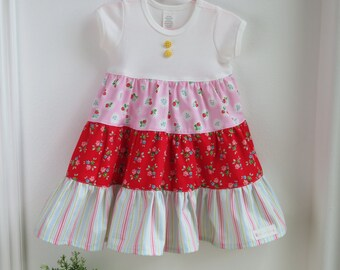 DYOD - Girl's Knit Top Three Tiered Dress