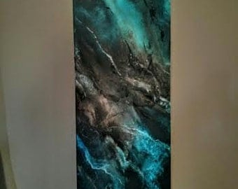 Nebula....... Abstract Oil Painting 36in X 12in x 1.5 inch