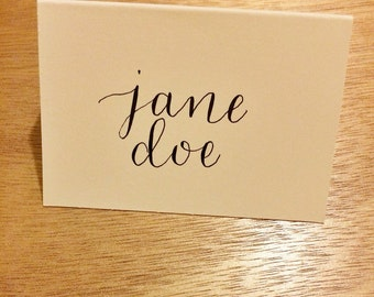 Place Cards in Calligraphy