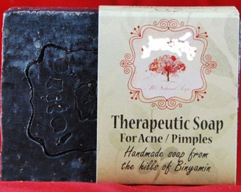 Natural 100% Handmade Organic Therapeutic soap for acne/pimples village made