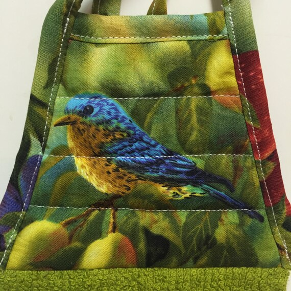Bird Kitchen Towelblue Bird Towelgreen Towelhanging Kitchen