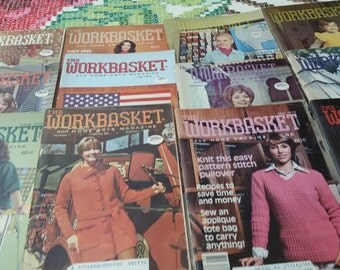 1970s Lot of 12- The Workbasket and Home Arts Magazine-Vintage