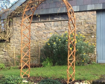 Hazel chris cross garden arch