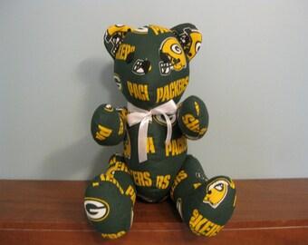 Green Bay Packers Bear - nfl bear stuffed bear football bear handmade bear custom bear nfl teddy bear