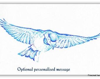 Personalised Bird in flight Art Print Greetings Card