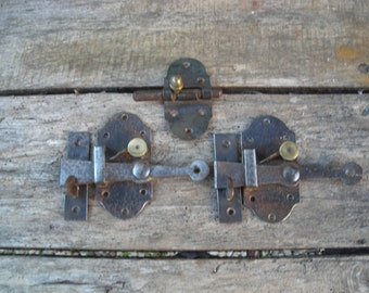 Old Cupboard Catches.  Old Cupboard Bolt. Vintage Cupboard Catches.