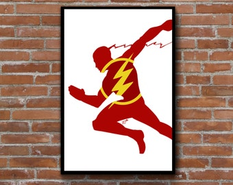 Dc Comics Wall Art aquaman minimalist silhouette art print wall decor poster dc