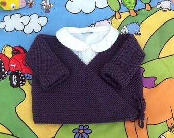 Wrap baby knitting vest