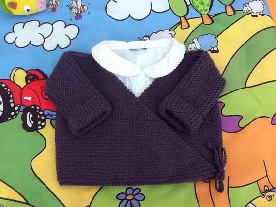 brassi re gilet b b cache coeur tricot laine layette cadeau. Black Bedroom Furniture Sets. Home Design Ideas