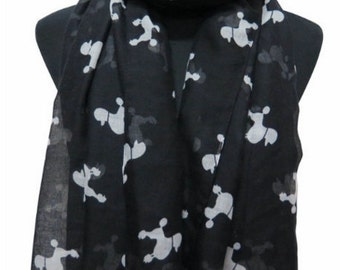 Scarf with Poodle Print