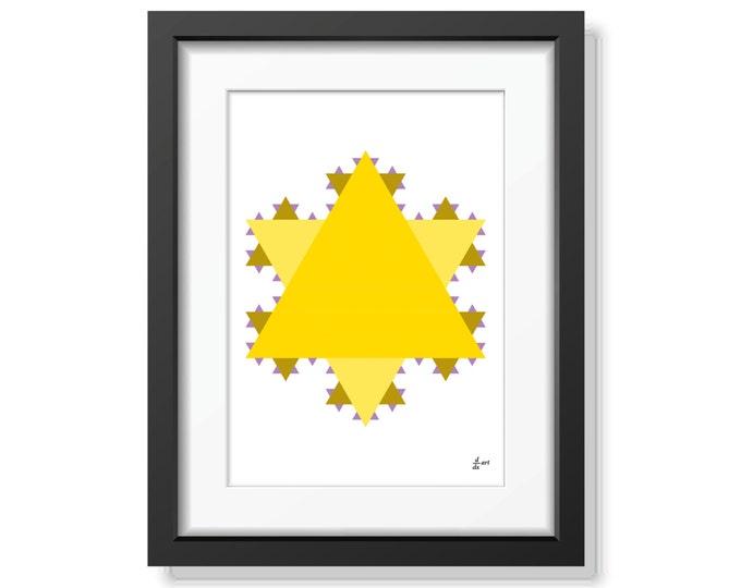 Koch star 11 [mathematical abstract art print, unframed] A4/A3 sizes