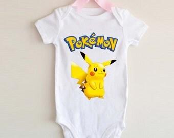 LoNyatanee cute Pokemon Pikachu Onesie Baby Onesie Bodysuit Kids Clothing