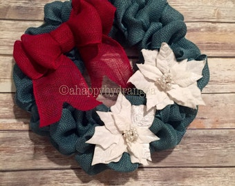 Winter Poinsettia Wreath