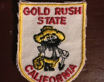 Vintage Gold Rush State California Patch