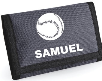 Personalised Baseball Wallet  - *Choice of colours*