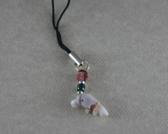 Seashell Dolphin Cell Phone Charm