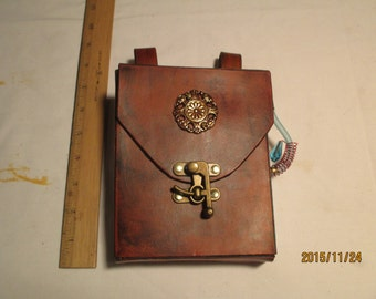 leather steampunk belt pouch