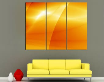 3 Panel canvas, Split Abstract canvas Print. Digital abstract picture for modern home / office wall decor & interior design.