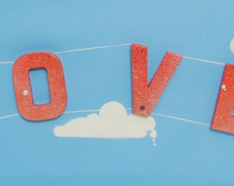 3D Love Plane- On Canvas 80cm x 30cm