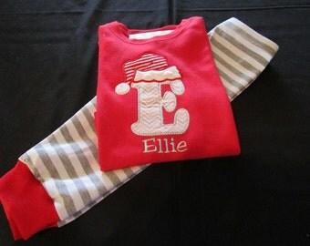 Children Christmas Pajamas- Personalized Christmas Pajamas-Santa Hat Christmas Pajamas-Santa Claus Pajamas