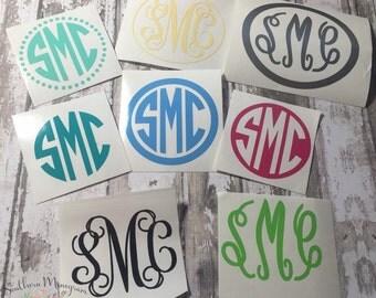 BOGO!! 2 INCH Monogram decal, monogram sticker, monogram, vinyl decal, initial monogram, personalized gift, car decal, custom decal