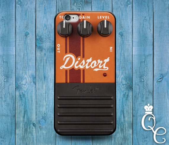 iPhone 4 4s 5 5s 5c SE 6 6s 7 plus iPod Touch 4th 5th 6th Generation Cute Distortion Pedal Box Orange Rock Band Music Guitar Cover Case