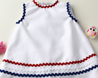 Summer dress for kids without sleeves