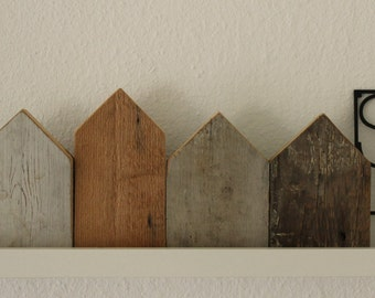 Flat Houses from scrap wood
