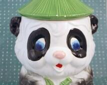 Vintage Panda Cookie Jar - Made in Japan