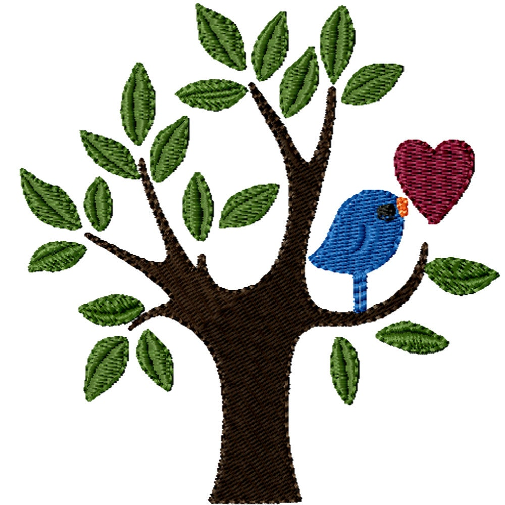 Little love bird a machine embroidery design from